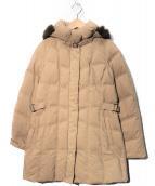 SANYO(サンヨー)の古着「ブルーフォックスファーダウンコート」|ベージュ