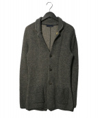 LARDINI(ラルディーニ)の古着「ソラーロニットジャケット」|グレー