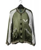 STAMMBAUM(シュタンバウム)の古着「リバーシブルスカジャン」|グリーン×グレー