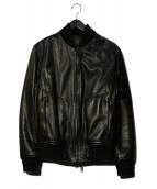 RUFFO(ルッフォ)の古着「ラムレザーブルゾン」|ブラック