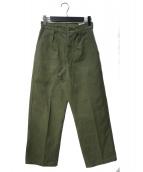 ODON DELCROIX(オドンデルクロア)の古着「フレンチアーミーパンツ」|オリーブ