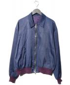 URU(ウル)の古着「ジップブルゾン」|ネイビー