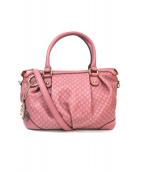 GUCCI(グッチ)の古着「グッチシマ スーキー 2WAYバッグ」|ピンク