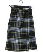 ONEIL OF DUBLIN(オニールオブダブリン)の古着「チェック巻きキルトスカート」 ネイビー