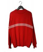 YASHIKI(ヤシキ)の古着「Kaiko Line Mock Knit ニット」|レッド
