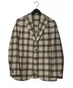 L.B.M.1911(エルビーエム1911)の古着「オーバーチェック2Bジャケット」|ブラウン