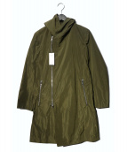 TETE HOMME(テットオム)の古着「フーデッドコート」|オリーブ