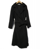 Mila Owen(ミラオーウェン)の古着「19AW ベルデットウールチェスターコート」|ブラック