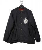GANGSTERVILLE(ギャングスタビル)の古着「ボアコーチジャケット」|ブラック