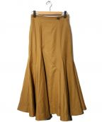SAYAKA DAVIS(サヤカ デイヴィス)の古着「ランダムフレアスカート」|ベージュ