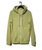 Seagreen(シーグリーン)の古着「オニワッフルパーカー」|イエロー