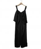 LIMI feu(リミフゥ)の古着「デザインオールインワン」 ブラック