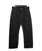 Trophy Clothing(トロフィークロージング)の古着「STANDARD DIRT DENIM 1605デニムパンツ」 ブラック