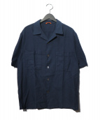 BARENA(バレナ)の古着「オープンカラーメッシュシャツ」|ネイビー