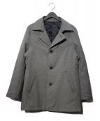COMME CA MEN(コムサメン)の古着「ポリエステルヘリンボーン中綿コート」|グレー