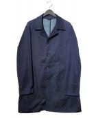 COMME CA MEN(コムサメン)の古着「ハンドルナイロンデニムショップコート」|ネイビー