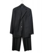 GIORGIO ARMANI(ジョルジオアルマーニ)の古着「セットアップ2Bスーツ」|ブラック×グレー