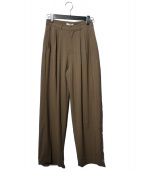 CLANE(クラネ)の古着「BASIC TUCK PANTS タックパンツ」 ブラウン