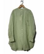 FRAMeWORK(フレームワーク)の古着「Co/Siシアーシャツ」|グリーン