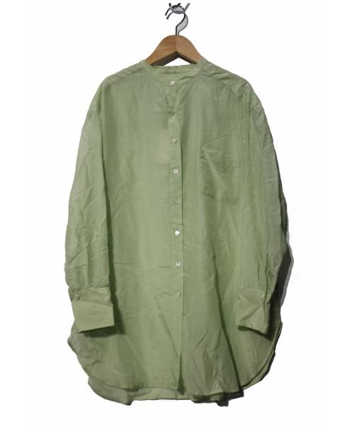 FRAMeWORK(フレームワーク)FRAMeWORK (フレームワーク) Co/Siシアーシャツ グリーン サイズ:FREE 未使用品  20SSの古着・服飾アイテム
