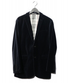 BURBERRY BLACK LABEL(バーバリーブラックレーベル)の古着「ベロアテーラードジャケット」 ネイビー