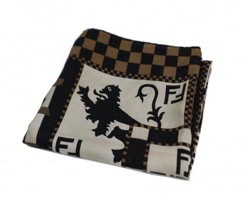 FENDI(フェンディ)FENDI (フェンディ) シルクスカーフ ブラウンの古着・服飾アイテム