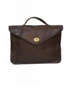 IL BISONTE(イルビゾンテ)の古着「ビジネスバッグ」|ブラウン
