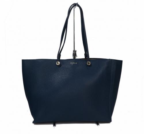 FURLA(フルラ)FURLA (フルラ) レザートートバッグ ブルーの古着・服飾アイテム