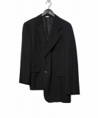 COMME des GARCONS HommePlus(コムデギャルソンオムプリュス)の古着「変形アシンメトリージャケット」|ブラック