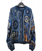 KAPITAL(キャピタル)の古着「7G KNIT BORO GAUDY ニット」|ブルー
