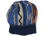 KAPITAL(キャピタル)の古着「7G BORO GAUDY ニット帽」|ブルー