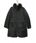 SHIPS(シップス)の古着「フォックスファー リバーシブルダウンコート」|ブラック