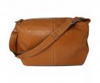 土屋鞄(ツチヤカバン)の古着「スコッチガード レザーショルダーバッグ」|ブラウン