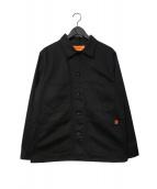 UNIVERSAL OVERALL(ユニバーサルオーバーオール)の古着「カバーオール ジャケット」|ブラック