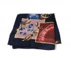 CELINE(セリーヌ)の古着「シルクスカーフ」|ネイビー