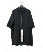 CASEY CASEY(ケーシーケーシー)の古着「EQUEURE POLO ポロシャツ」 ブラック