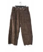 LEVIS SILVERTAB(リーバイス シルバータブ)の古着「90s baggy Wide Corduroy パンツ」 ブラウン