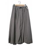 GRAMICCI(グラミチ)の古着「WEATHER LONG FLARE SKIRT スカート」 グレー
