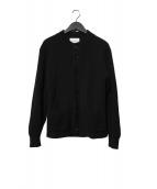 Vincent et Mireille(ヴァンソンエミレイユ)の古着「クルーネックウールカーディガン」|ブラック