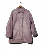 HERITANOVUM(ヘリテノーム)の古着「20SS オーバーデニムジャケット」|ピンク