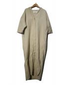 ENFOLD(エンフォルド)の古着「ライトツイストコットンシャツドレス」|ベージュ
