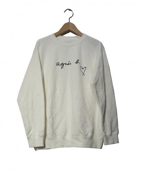 agnes b(アニエスベ)agnes b (アニエスベ) SBX4 SWEAT スウェット ホワイト サイズ:2 WEB限定 19AWの古着・服飾アイテム