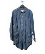 NATAL DESIGN(ネイタルデザイン)の古着「SHOP COAT CHAMBRAY コート」 インディゴ