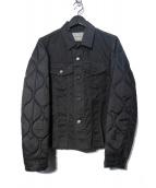 UNDERCOVERISM(アンダーカバイズム)の古着「袖キルティング オイルドコーディング Gジャン ジャケット」 ブラック