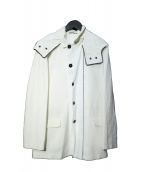 ANN DEMEULEMEESTER(アンドゥムルメステール)の古着「ワックスコーティングフーデッドジャケット」|ホワイト