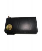 革蛸謹製(カワタコキンセイ)の古着「革蛸コンチョ付台形ロングウォレット 財布」|ブラック