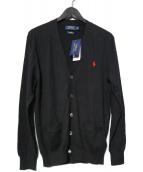 POLO RALPH LAUREN(ポロラルフローレン)の古着「スモールポニーニットカーディガン」 ブラック