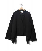 ENFOLD(エンフォルド)の古着「ライトダブルクロスショートジャケット」|ブラック