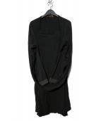 UNDERCOVERISM(アンダーカバイズム)の古着「変形ストール付ドッキングロング丈7分袖カットソー」 ブラック