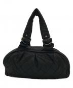 CHANEL()の古着「ココマークレザー キルティングバッグ」 ブラック